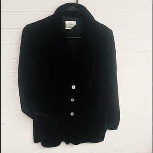 Jackets & Blazers - Vintage velvet black blazer Koret Of California M
